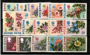 Bermuda Scott 255-71 Mint NH (Catalog Value $53.80)