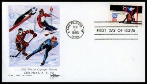 US FDC #1798 15c Hockey - Gillcraft Cachet