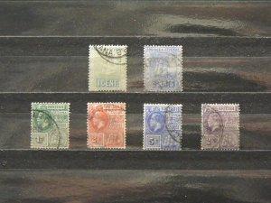 5632   Br Guiana   Used # 160, 175, 178, 179, 181, 193      CV$ 10.10