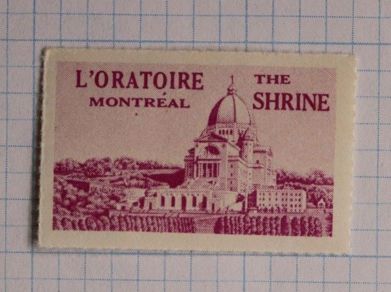 Montreal Canada L'Oratoire the Shrine St Josephs Poster seal church charity fund