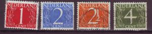 J13491 JLstamps 1946-7 netherlands set used #282-5 numerals