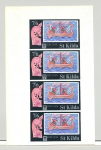St Kilda (British Local) Rosen #SK43 Viking Ship 1v S/S Collective Proof of 4