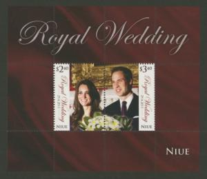Niue Sc# 864a MNH Royal Wedding (S/S)