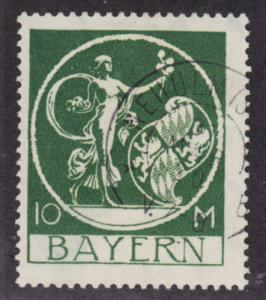 Bavaria Sc 253 used 1920 10m green Genius by von Kaulbach, Almost VF