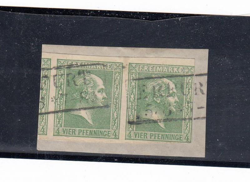 GERMAN STATES PRUSSIA # 9-9a PLUS PART SINGLE ON PIECE CAT VALUE $331