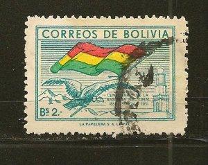 Bolivia 359 Flag Used