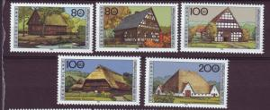 J11050 JL Stamps 1995 mnh germany set of 5 farmhouses