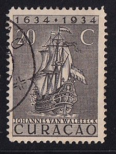Netherlands Antilles  Curacao  #119  used  1934  anniv founding colony 20c