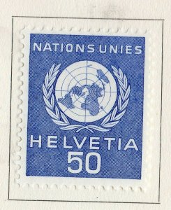 Switzerland Helvetia 1959 Early Issue Fine Mint Hinged 50c. NW-170834