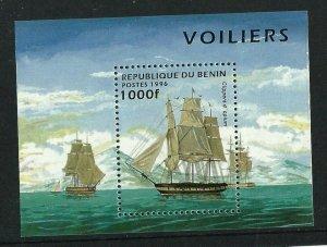1996    BENIN -  SG.  MS 1388  -  SHIPS - UNMOUNTED MINT MINI SHEET