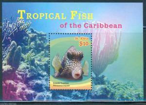 ST. KITTS 2015 TROPICAL FISH SOUVENIR SHEET II MINT NEVER HINGED