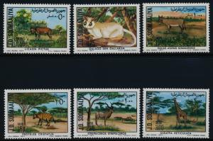 Somalia 444-9a MNH Protected Animals, Giraffe, Bush Baby, Kudu