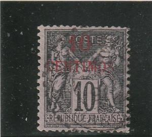 French Morocco  Scott#  3  Used  (1891 Surcharged)