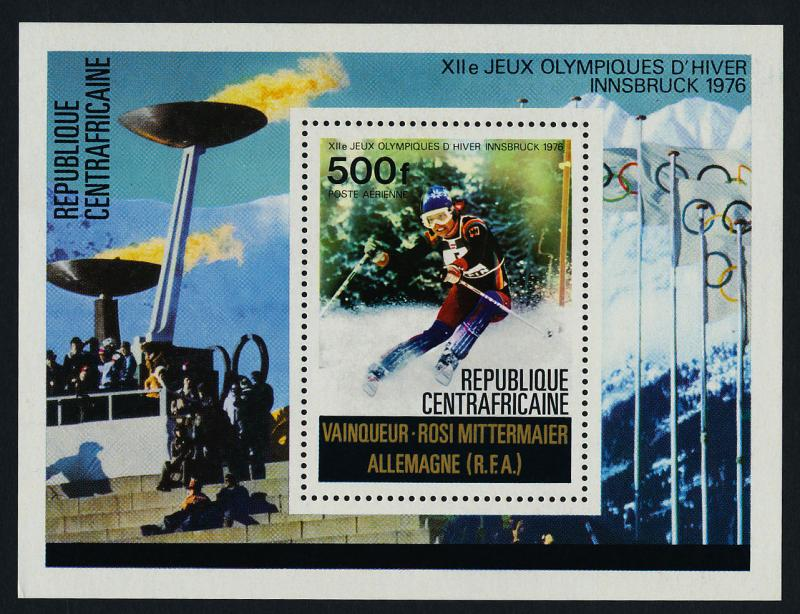 Central Africa C150 MNH Winter Olympics, Skiing