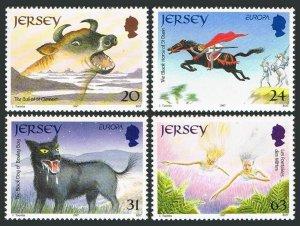Jersey 796-799,MNH.Michel 783-786. EUROPE CEPT-1997.Tales & Legends.Bull,Horse,