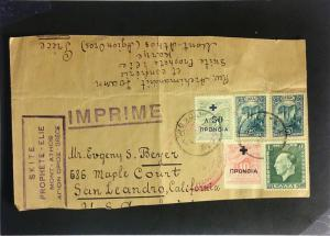 Greece 1930s Cover to USA (FRONT ONLY) - Z2284