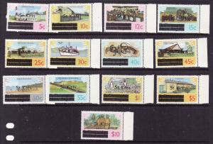 St Kitts-Sc#25-37-unused NH set-Definitives-1980-