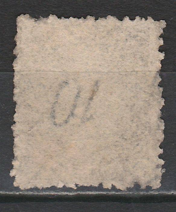 TASMANIA 1870 QV 10D PERF 11.5 WMK 10 INVERTED USED