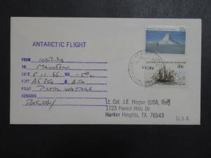 Australian Antarctic Terr 1986 Flight Cover / Location Details - Z9626