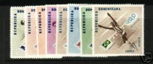 DOMINICAN REPUBLIC SPORTS 479-83, C100-02 MNH
