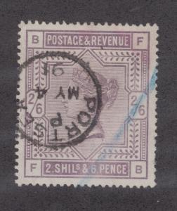 Great Britain Sc 96, SG 178 used. 1883 2sh6p Queen Victoria, PORTSEA Cancel