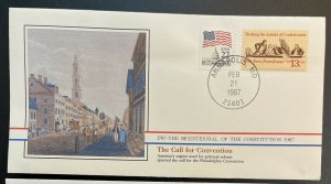US #1726,2115 Used on Cover - Bicentennial of the Constitution 1787-1987 [BIC1]