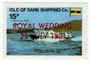 (I.B) Guernsey Cinderella : Isle of Sark Shipping Company 15p (Royal Wedding)