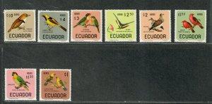 Ecuador Sc#c441-c448 M/NH/VF, Birds, Cv. $25.30