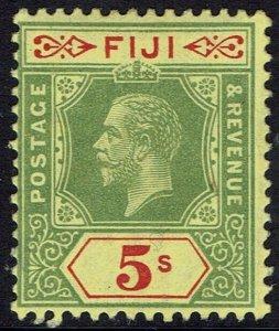 FIJI 1912 KGV 5/- WMK MULTI CROWN CA