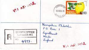 Barbuda 1983 Sc#610 Lemon Citrus limon overprinted in a Registered Letter
