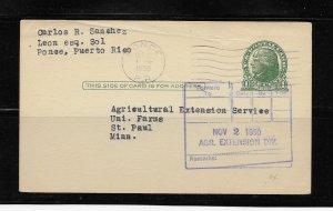 PUERTO RICO CARD 1950 PONCE #OCTUB1