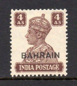 Bahrain 1942 KGVI  4a SG 47 mint