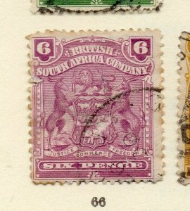 Rhodesia 1900s Early Issue Fine Used 6d. NW-170440