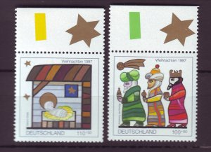 J25261 JLstamps 1997 germany set mnh #b825-6 christmas
