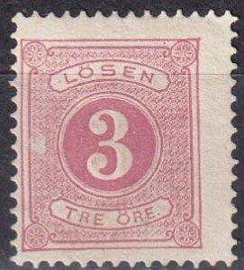 Sweden #J13  Unused  CV $6.25  (Z6333)