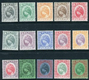 PERAK-1935-37  A lightly mounted mint set to $5 Sg 88-102