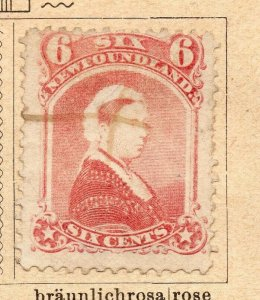Newfoundland 1870 Early Issue Fine Used 6c. NW-11912
