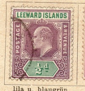 Leeward Islands 1902 Early Issue Fine Used 1/2d. NW-11902