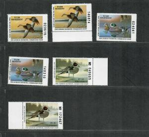Louisiana Sc#7-12 M/NH/VF, State Duck Stamps, Cv. $72