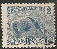 1905 French Guiana Scott 52 Great Anteater MLH