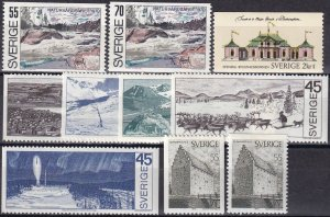 Sweden #851-60 F-VF Unused CV $5.55 (Z6221)