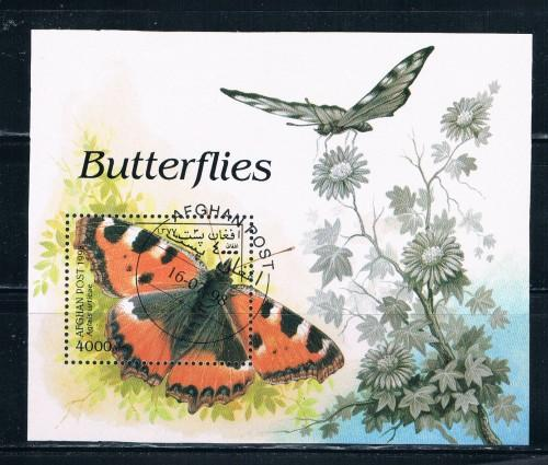 Afghanistan 1998 Souvenir Sheet Used Butterfly (A0035)