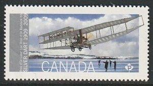 2009 Canada - Sc 2317 - MNH VF - 1 single - Silver Dart - First Flight in Canada