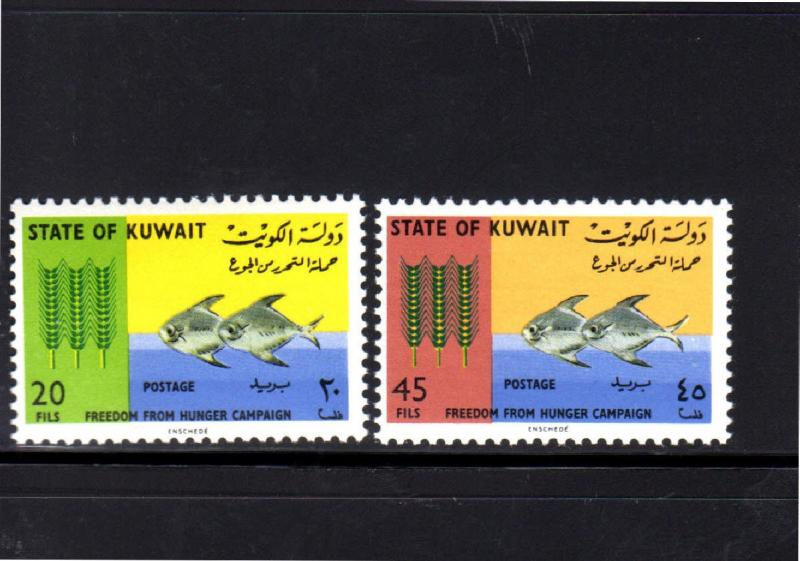 KUWAIT #310-311  1966  FREEDOM FROM HUNGER  MINT VF NH  O.G