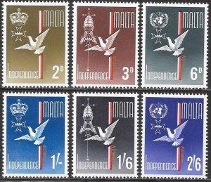 Malta 303-308 MNH - Malta's Independence