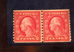 454 MINT PAIR VF OG NH Cat $360
