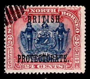 North Borneo Scott 114 Used British Protectorate overprint