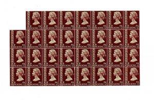 Hong Kong 1973 QE2 $2 Definitive MINT SG 324 - sheet 31 stamps