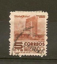 MEXICO STAMP VFU 1960 CORREO MEXICO 5 CTS # M3