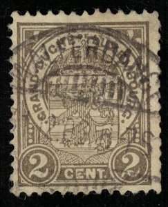 1907, 2 cent., Luxembourg, Coat of Arms, SG #158 (T-7331)